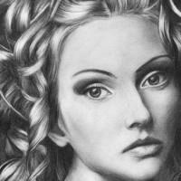 Рисуем волосы карандашом